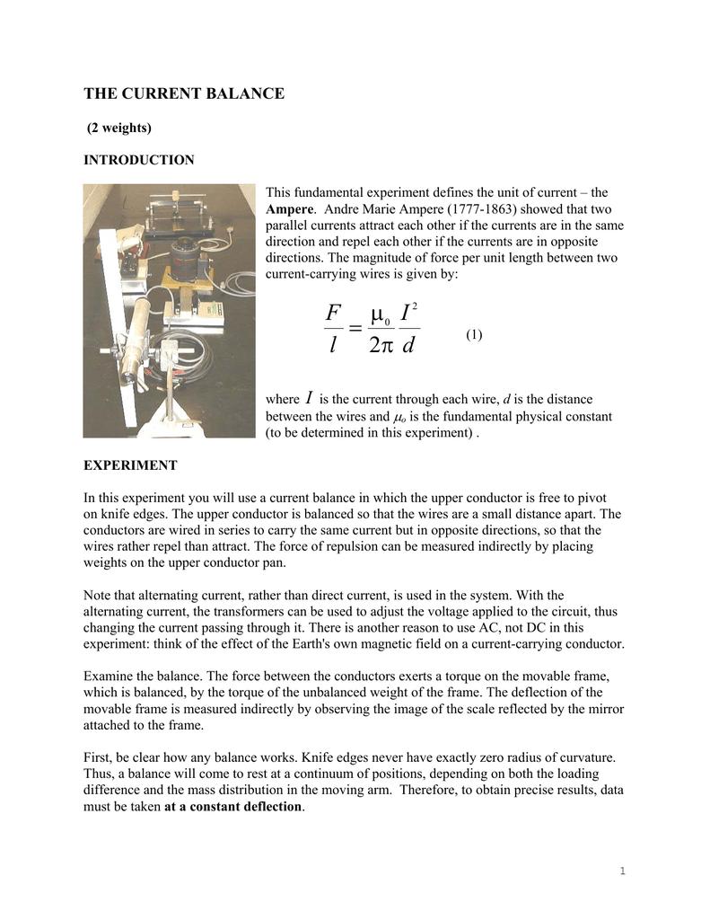 Current Balance - University of Toronto Physics