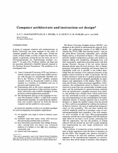 Computer architecture anc instruction set design