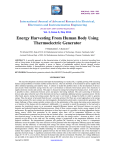 Energy Harvesting From Human Body Using Thermoelectric Generator