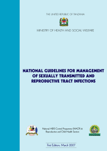 national guidelines for management of sexually transmitted and