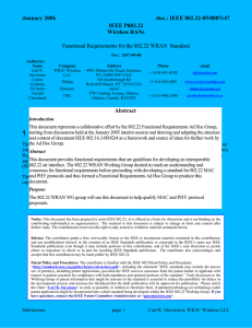 22-05-0007-47-0000 - IEEE 802 LAN/MAN Standards Committee