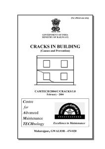 cracks in building - rdso