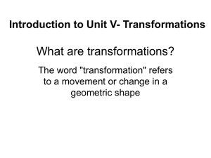What are transformations?