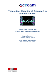 Theoretical Modeling of Transport in Nanostructures June 02, 2009