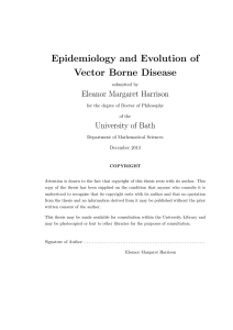 Epidemiology and Evolution of Vector Borne Disease