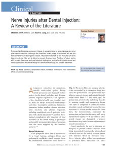 Nerve Injuries after Dental Injection: A Review of the Literature