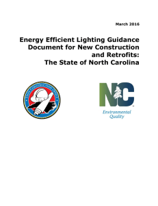 Energy Efficient Lighting Guidance Document for New Construction