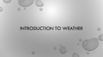 Introduction to Weather PPT