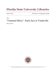 """Untamed Music"": Early Jazz in Vaudeville - DigiNole!"