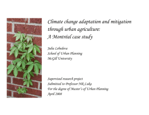 Climate change adaptation and mitigation through