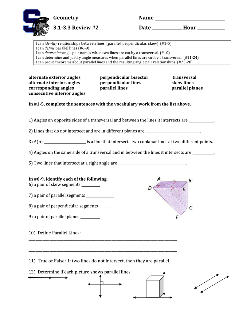 Worksheet on parallel lines and transversals robcynllc Choice Image