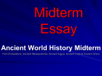 Ancient World History Midterm