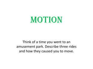 Describing Motion - chapter 1 - St. Thomas the Apostle School