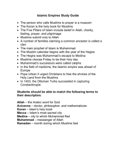 Islamic Empires Study Guide