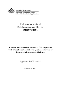 Risk assessment - Office of the Gene Technology Regulator