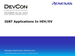 HEV/EV Applications - Renesas e