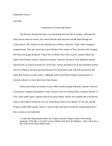 Humanities Essay 4 Jack Mao Comparison of Aeneas and Hector