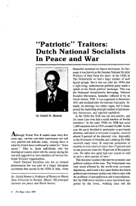 """Patriotic"" Traitors: Dutch National Socialists In Peace and War"