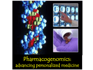 Pharmacogenomics - LSU School of Medicine