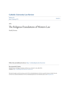 The Religious Foundations of Western Law