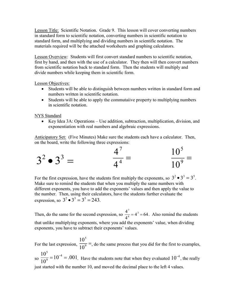 Lesson title scientific notation falaconquin