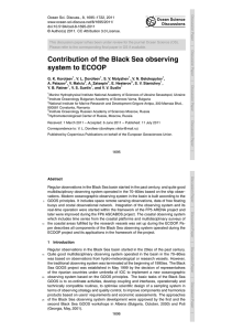 Contribution of the Black Sea observing system to ECOOP