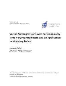 Vector Autoregressions with Parsimoniously Time Varying