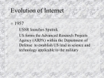 Pres3EvolutionOfInternet - University of Scranton: Computing