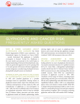 Glyphosate and Cancer Risk: Frequently Asked Questions