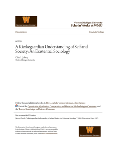 A Kierkegaardian Understanding of Self and Society