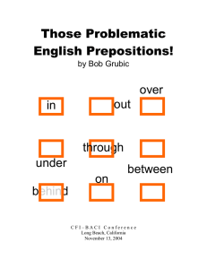 Those Problematic English Prepositions!