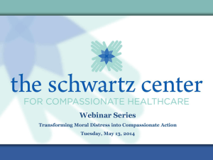 Moral Distress - The Schwartz Center for Compassionate Healthcare