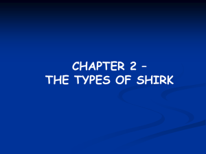 Chapter 2 Types of shirk - Al