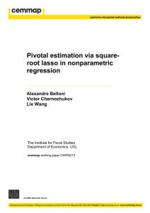 Pivotal Estimation via Square-root Lasso in Nonparametric