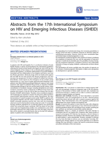 Abstracts from the 17th International Symposium on HIV and