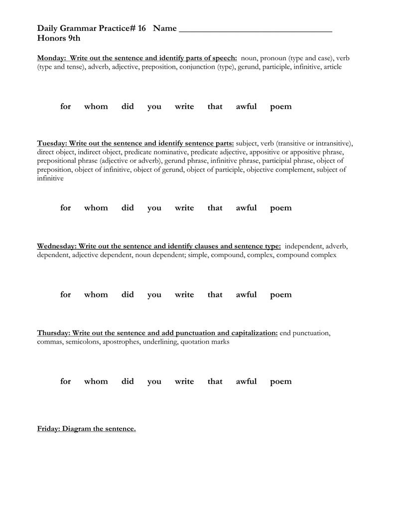 Worksheets Gerund Phrase Worksheet workbooks participle phrase worksheets free printable daily grammar practice worksheets
