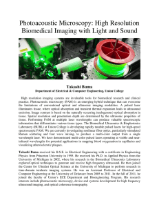 High Resolution Biomedical Imaging with Light and Sound