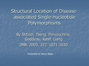 Structural Location of Disease-associated Single