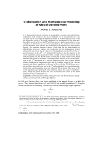 Globalization and Mathematical Modeling