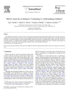 Mirror neurons in humans: Consisting or confounding