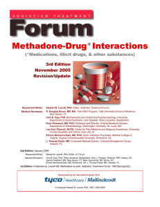 Methadone-Drug Interactions
