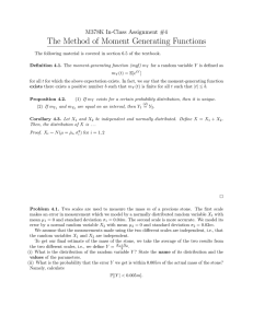 The Method of Moment Generating Functions