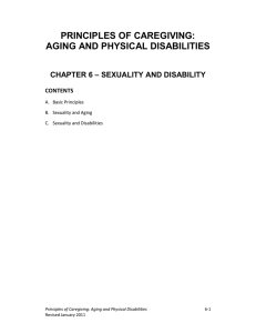 Principles of Caregiving: Aging and Physical Disabilities Chapter 6