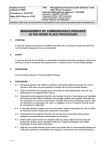 Management of communicable diseases procedure