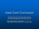 Iowa Core Curriculum PowerPoint