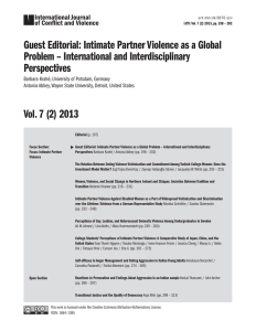 Guest Editorial: Intimate Partner Violence as a Global Problem