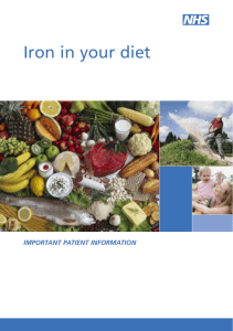 Iron in your diet