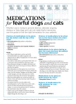 Medications for fearful dogs and cats