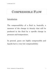 Introduction of compressible flow