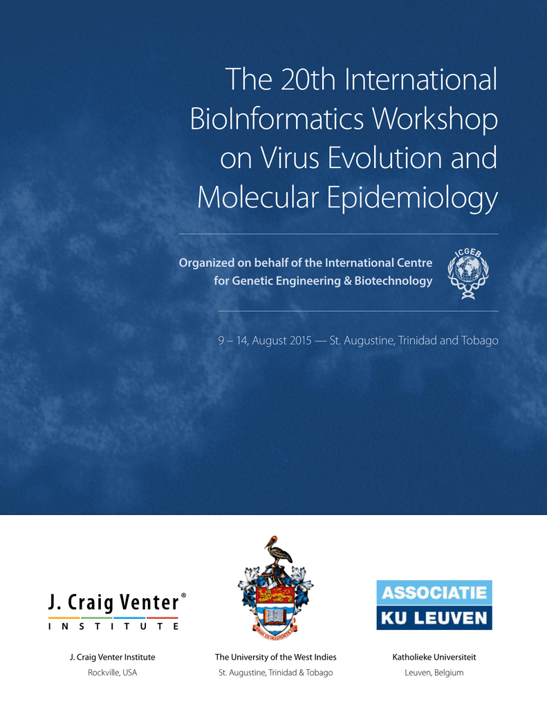 The 20th International BioInformatics Workshop on Virus Evolution